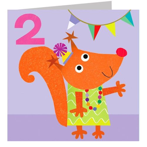 Fox Age Two Birthday Card Karenza Paperie – Second Birthday Cards