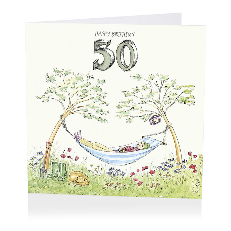 Hammock happy 50th birthday card karenza paperie hammock happy 50th birthday card product images bookmarktalkfo Image collections