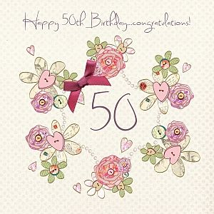 Handmade 50th Birthday Card