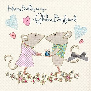 Handmade Boyfriend Birthday Card