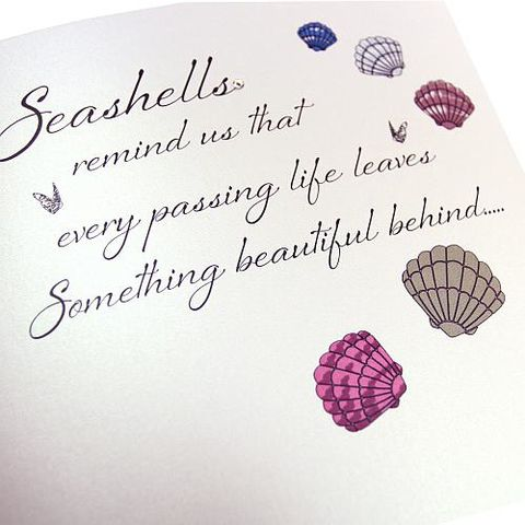 Seashells,Remind,Us,With,Sympathy,Card,buy with sympathy card online, buy deepest condolences card online, buy seashells sympthy card online, every passing life sympthy card, floral sympathy cards, cards for bereavement, flowers with sympathy cards