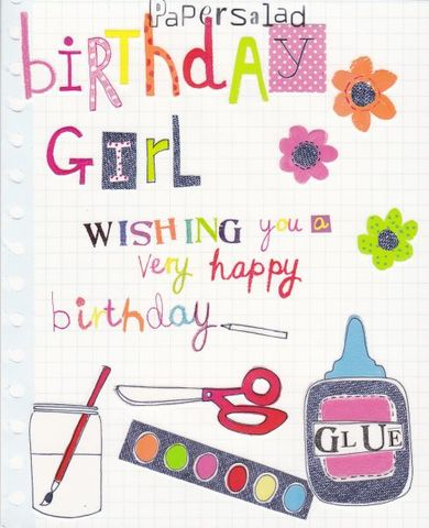 Birthday,Girl,Card,buy girls birthday card online, buy birthday girl card online, buy birthday card for little girl online, art birthday card, artist birthday card, craft birthday card, childrens birthday card, birthday card for girl