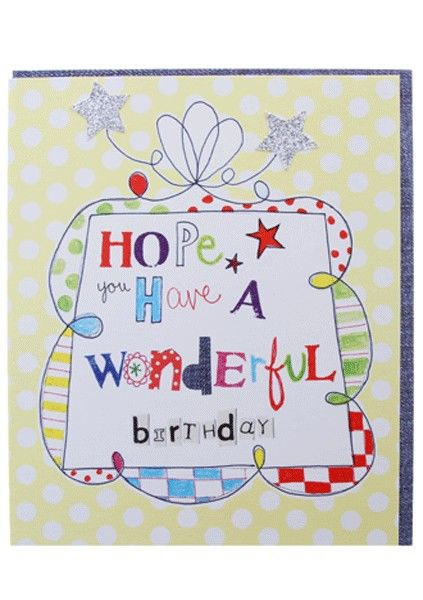 Have a wonderful birthday card karenza paperie have a wonderful birthday card product images bookmarktalkfo Image collections