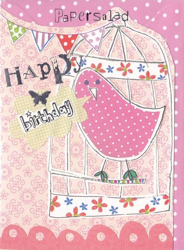 Bird birdcage birthday card karenza paperie bird birdcage birthday card product images m4hsunfo