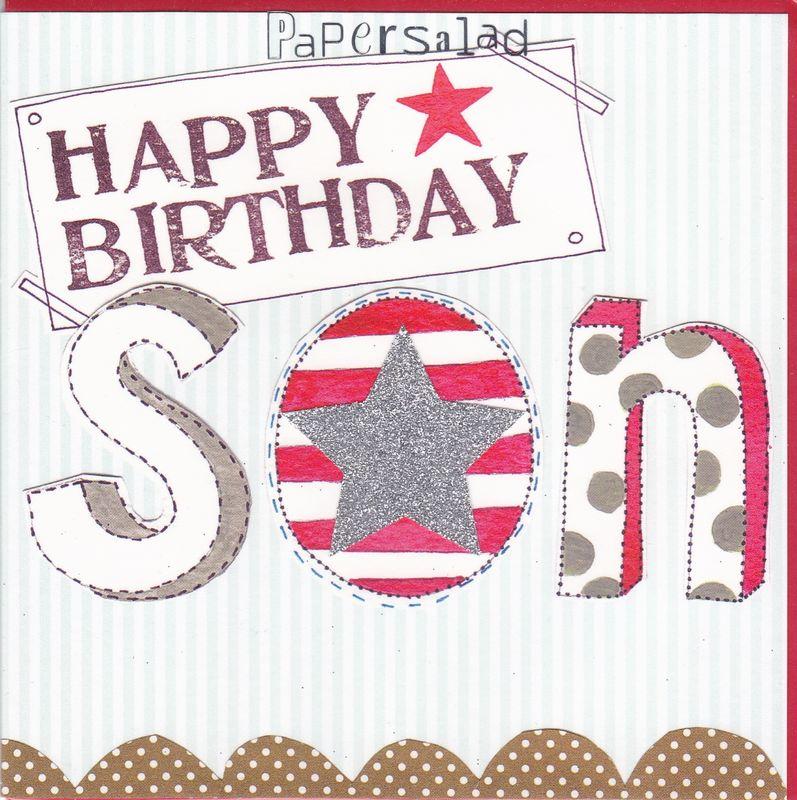 Star Son Birthday Card