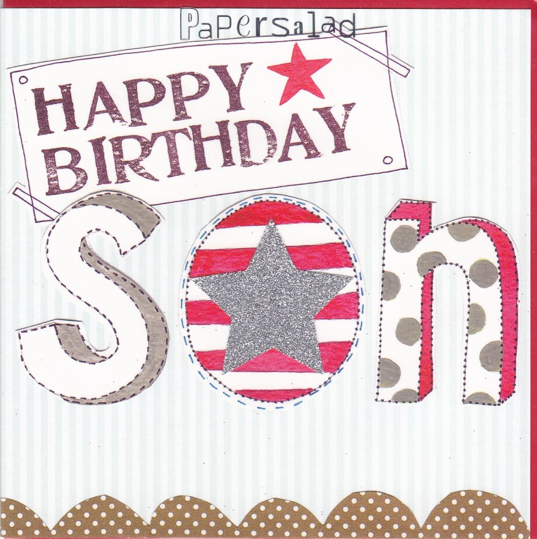 Star Son Birthday Card Karenza Paperie – Son Birthday Cards