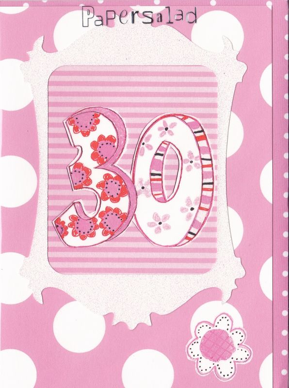Dotty 30th Birthday Card