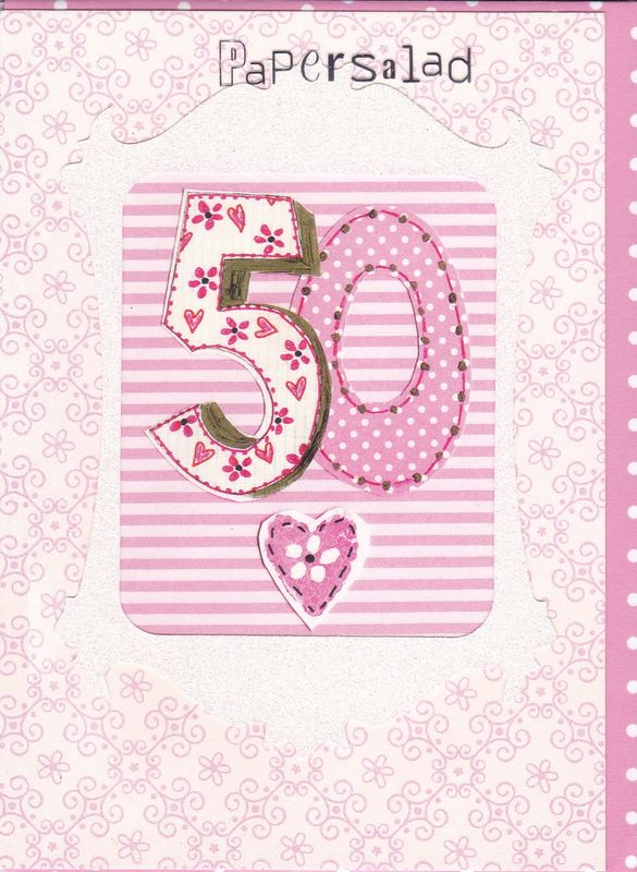 Pink 50th Birthday Card Karenza Paperie – Cards 50th Birthday