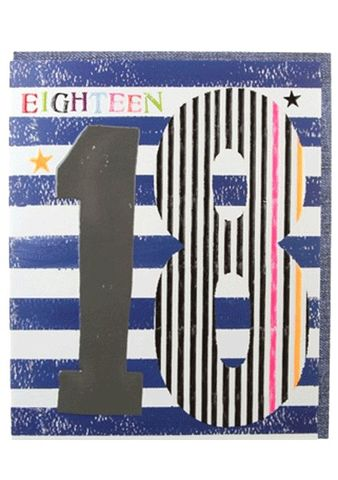 Stars,&,Stripes,18th,Birthday,Card,buy 18th birthday card online, buy mens 18th birthday card online, card for 18th, boys eighteenth card, mens age eighteen card, age 18 card, stars and stripes 18th birthday card, stars eighteenth birthday cards, striped age eighteen birthday cards