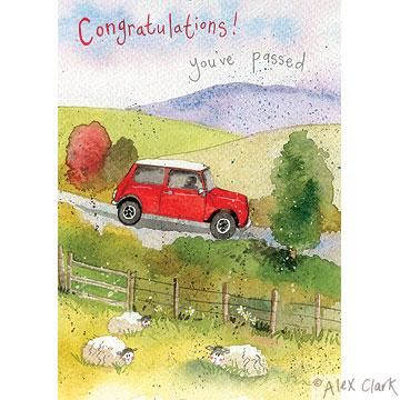 Mini,&,Sheep,Congratulations,You've,Passed,Card,buy congratulations on passing your driving test card, buy you passed your test card online, congratulations card, new driver card, card for passing your driving test