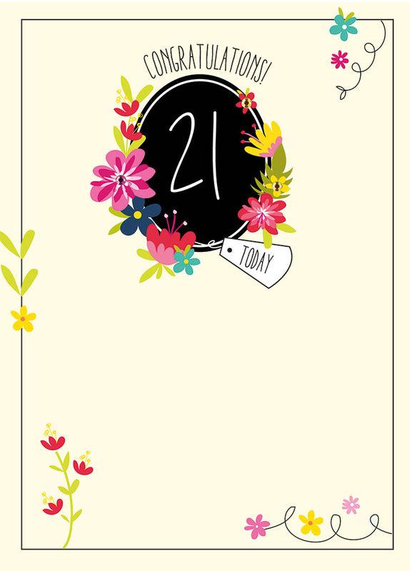 Congratulations 21 Today Birthday Card
