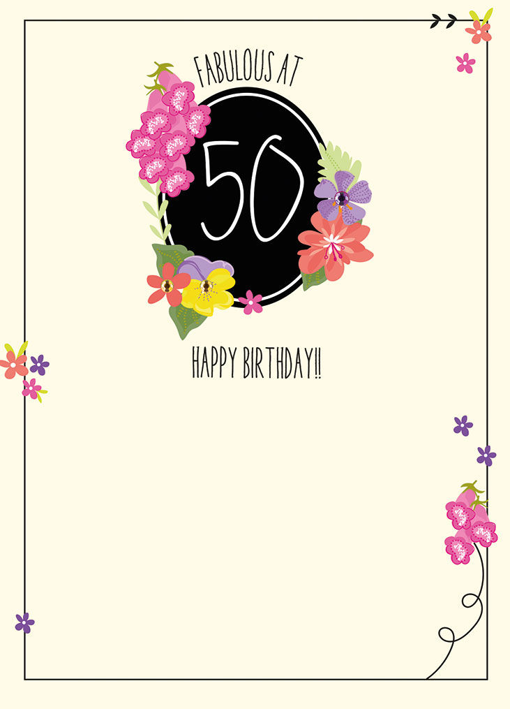 Fabulous At 50 Birthday Card Karenza Paperie – Birthday Cards 50