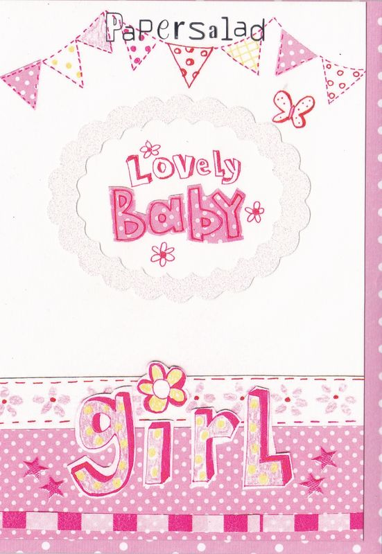 new baby girl cards
