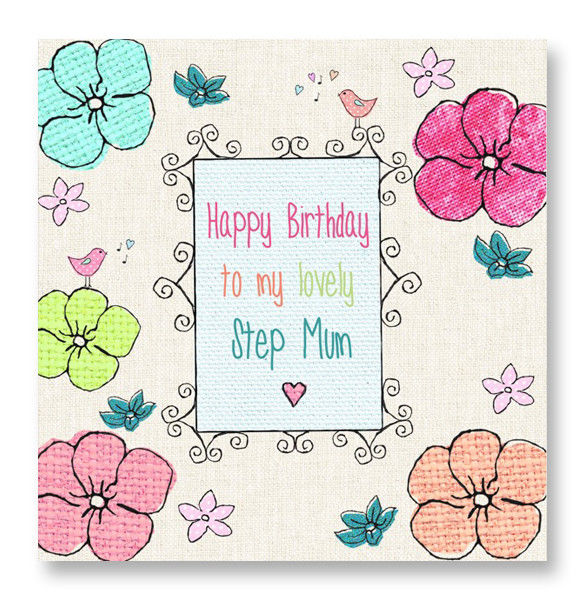 For A Lovely Step Mum Birthday Card Karenza Paperie