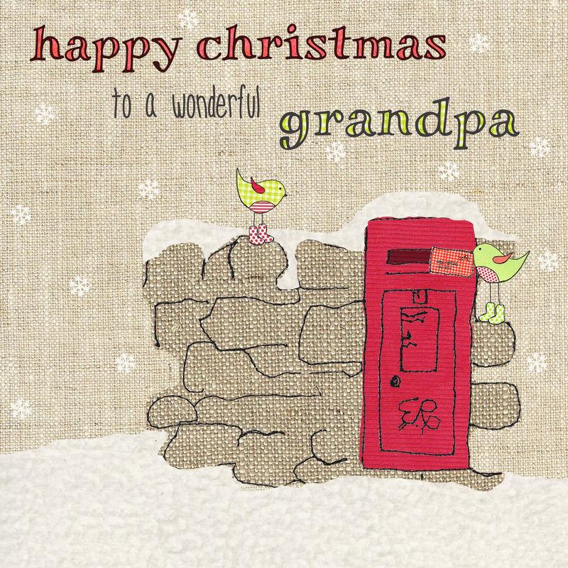 Hand Finished Wonderful Grandpa Christmas Card - Karenza Paperie