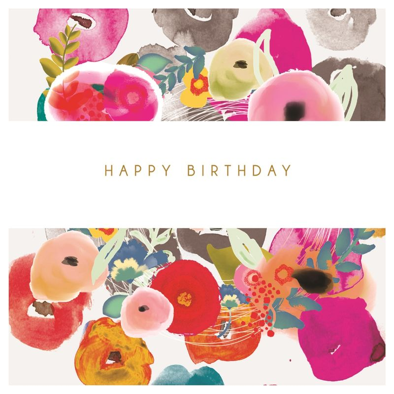 flowers happy birthday card karenza paperie - Happy Birthday Cards Flowers
