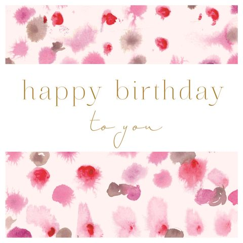 Pink,Splodges,Birthday,Card,buy contemporary birthday card online, buy birthday cards for her online, have a great birthday birthday card, doing something lovely birthday card for her, buy striped birthday cards for her online, female birthday cards, birthday cards with flowers, flo