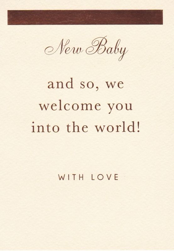 we welcome you into the world new baby card karenza paperie