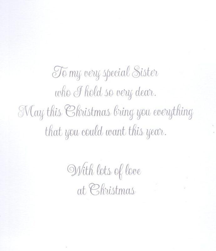 handmade fabulous sister christmas card