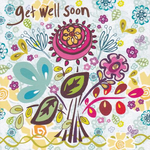 Floral,Get,Well,Soon,Card,buy get well soon cards online, buy cards for get well soon, feel better soon card, speedy recovery card, floral get well soon card, get well soon card for her, get well soon card with flowers,
