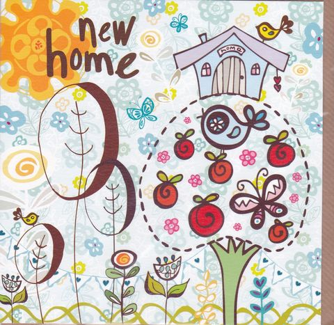 Apple,Tree,&,Birds,New,Home,Card,buy new home card online, buy card for new home online, new address card, card for new address, tree house new home card, birds new home card, apple tree new home card, birdhouse new home card, welcome to your new home card, good luck in your new home car