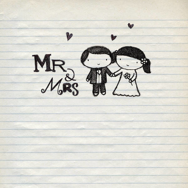 Mr And Mrs Wedding Card Product Images Of