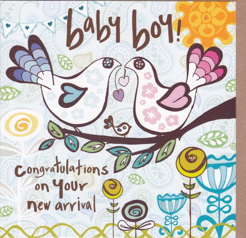 congratulations on your new arrival baby boy card karenza paperie