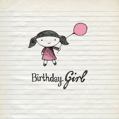 Girl,&,Balloon,Birthday,Card,buy birthday girl birthday cards online, buy cards for the birthday girl online, birthday cards for her, female birthday cards, girls birthday card