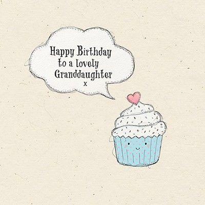 Lovely Granddaughter Cupcake Birthday Card