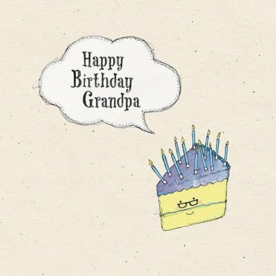 Grandpa Birthday Cake Card