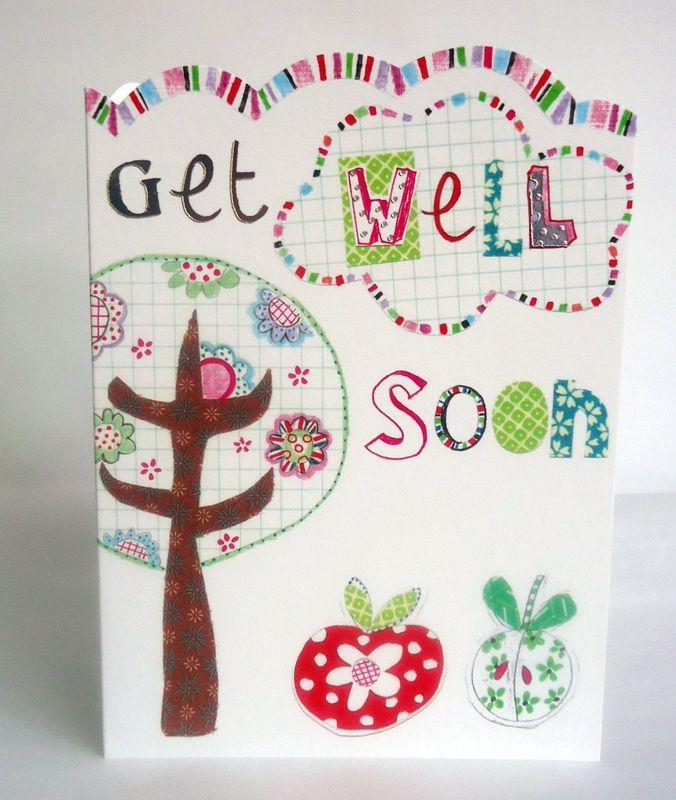 tree apples get well soon card karenza paperie