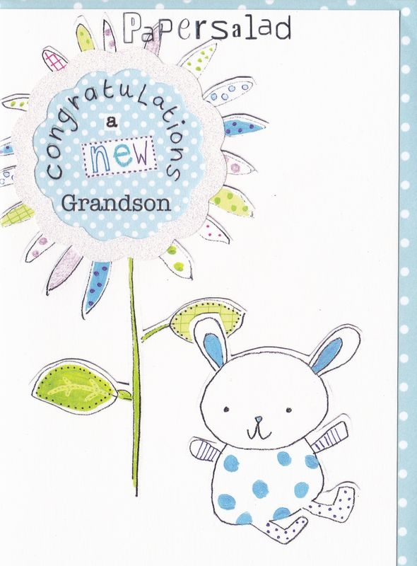 congratulations a new grandson new baby boy card karenza paperie