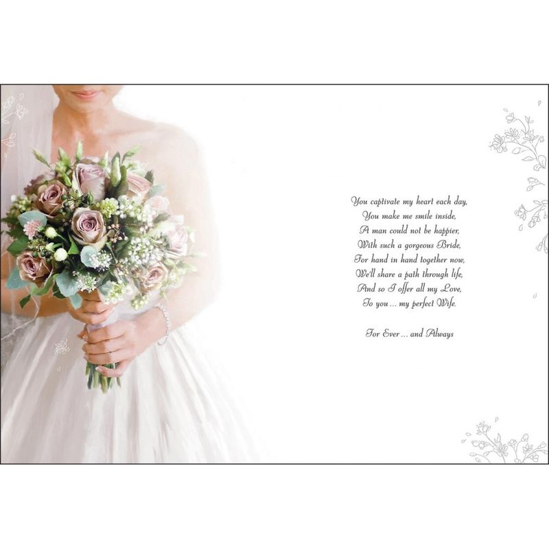 to my beautiful bride on our wedding day large wedding day card product images