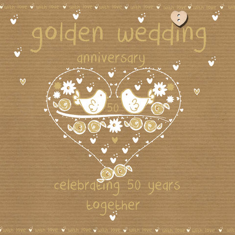 Golden Wedding Anniversary Gifts For Parents Uk : Golden,Wedding,Anniversary,Card,buy golden wedding anniversary card ...
