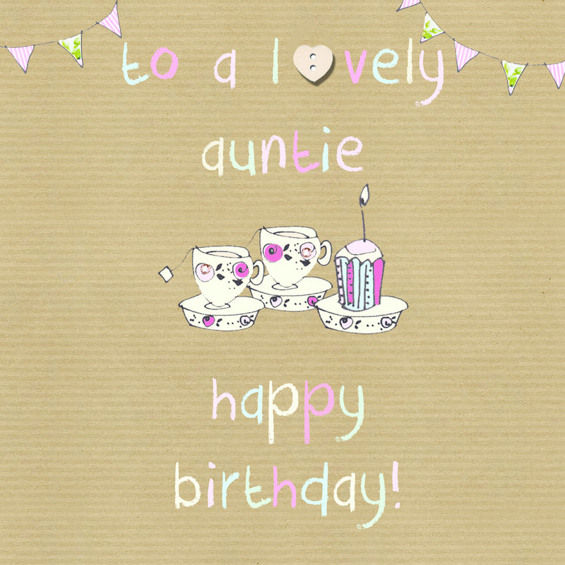 To A Lovely Auntie Happy Birthday Card Karenza Paperie
