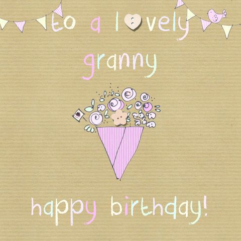 Birthday cards for female relations collection karenza for What to buy grandmother for birthday