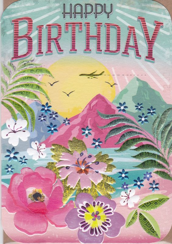 Tropical island birthday card karenza paperie m4hsunfo