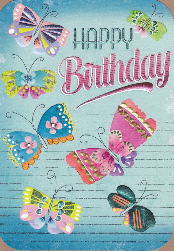 Butterflies Happy Birthday Card Karenza Paperie – Butterfly Birthday Card