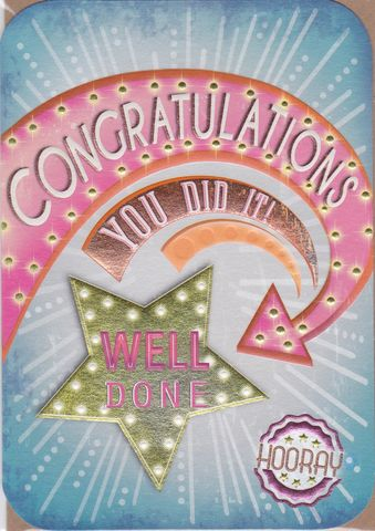 You,Did,It,Congratulations,Card,buy congratulations card online, buy cards for congratulations online, congrats cards, well done cards, star you did it card