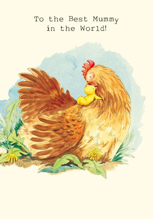 Little Chick and Hen Mummy Birthday Card Karenza Paperie – Mummy Birthday Card