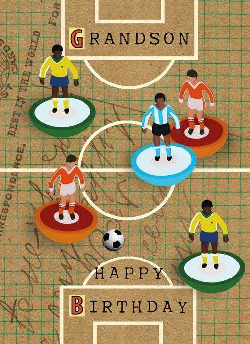 Grandson Subbuteo Football Birthday Card Karenza Paperie – Birthday Card Grandson