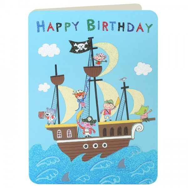 Pirates Pirate Ship Boys Birthday Card Karenza Paperie