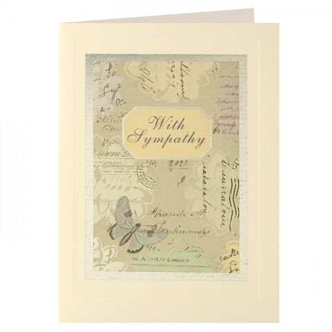 Butterfly,With,Sympathy,Card,buy with sympathy card online, buy butterfly sympathy card online, sympathy cards with butterflies, deepest condolences cards with butterflies, sorry for your loss cards