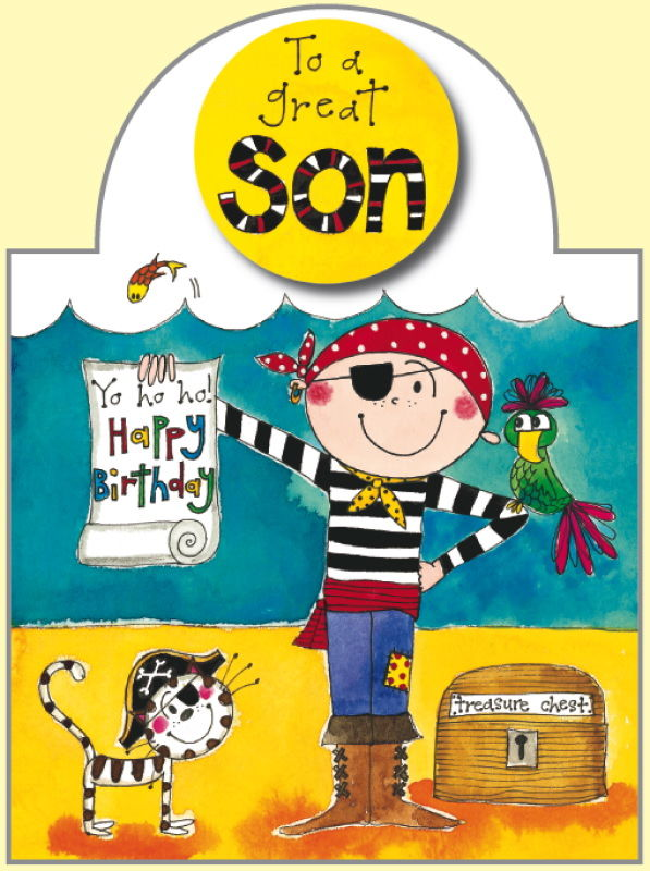 Pirate Son Birthday Card Karenza Paperie