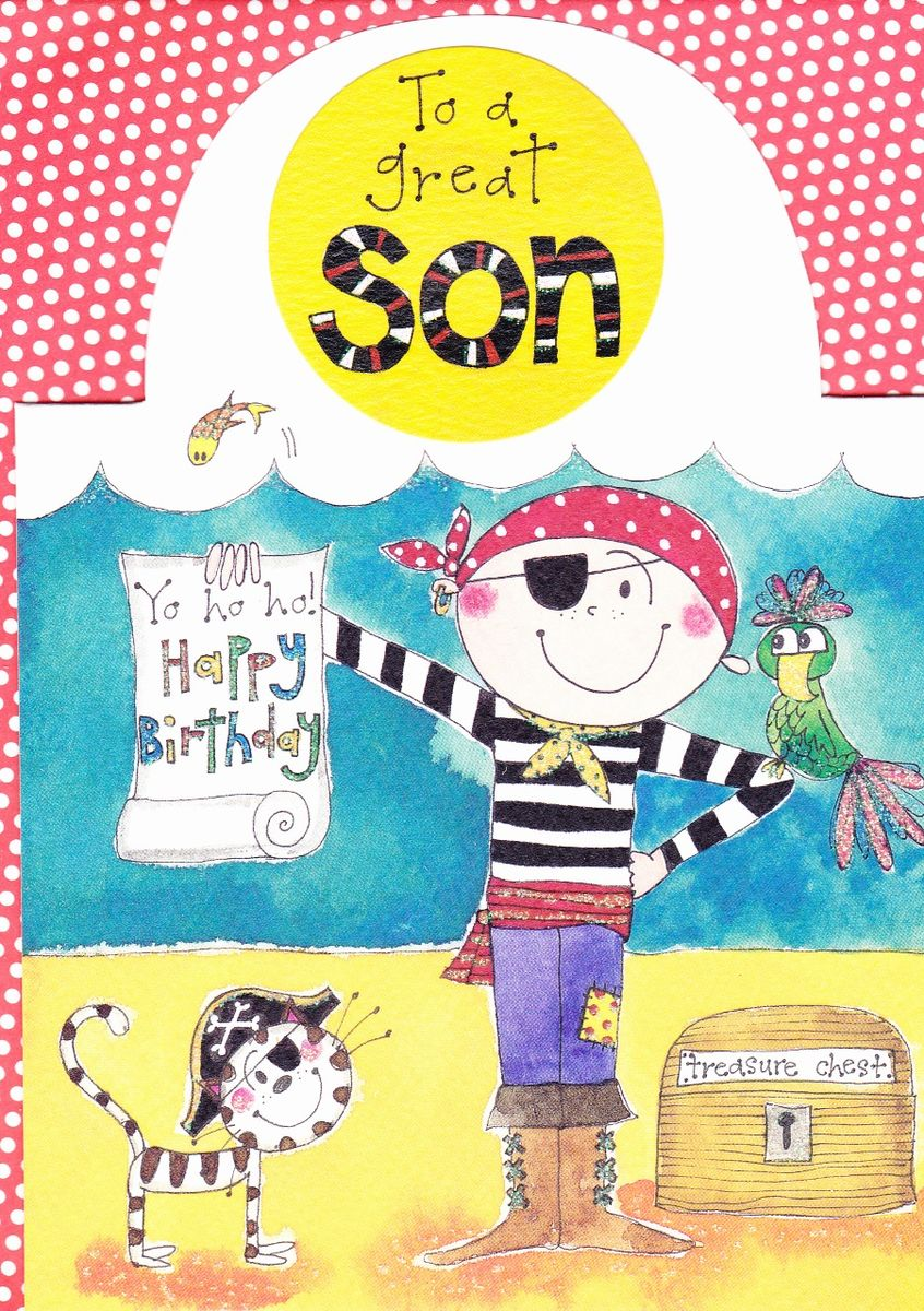 Pirate Son Birthday Card Karenza Paperie – Birthday Cards for Son