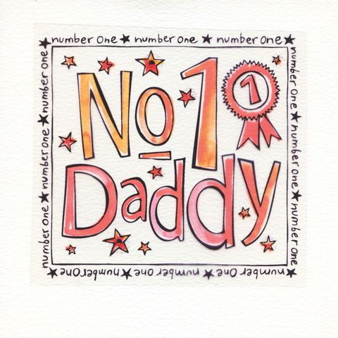 Number,One,Daddy,Card,buy number one daddy fathers day card, buy no 1 daddy card online, buy daddy card with rosette, buy daddy birthday card online, buy daddy father's day cards online, buy fathers day cards online,  chocolate father's day card, i love you more than chocolate