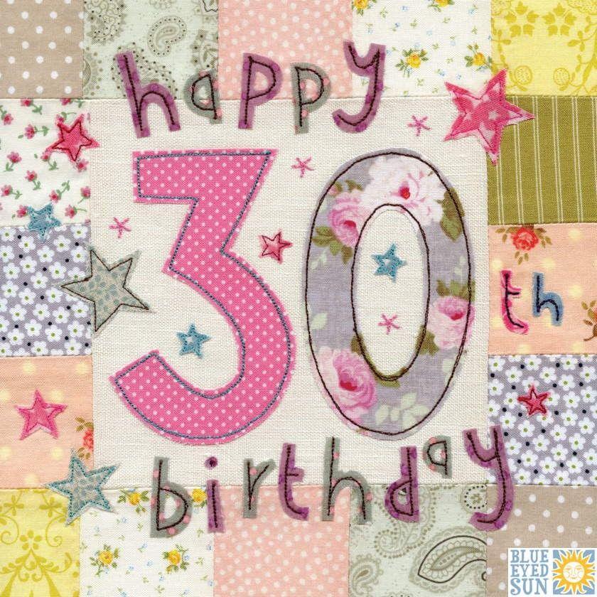 Happy 30th Birthday Card Large luxury birthday card Karenza – 30th Birthday Card