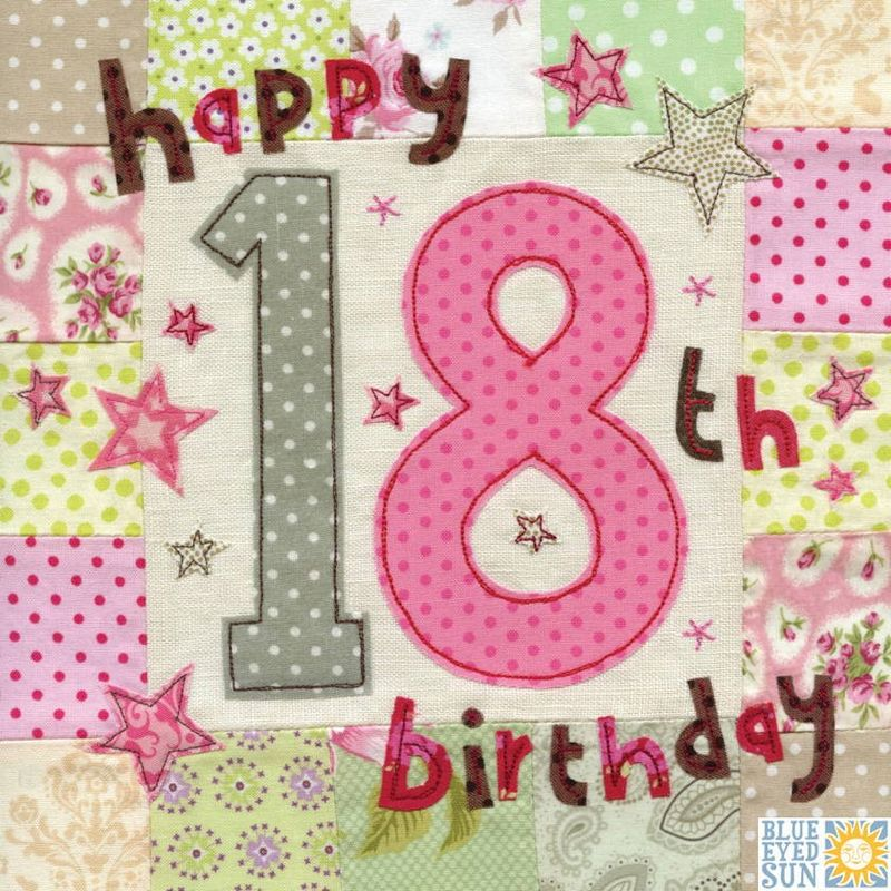 Happy 18th Birthday Card Large luxury birthday card Karenza – 18th Birthday Cards for Girls