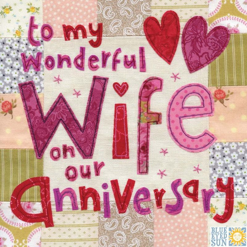 wonderful wife on our anniversary card large luxury anniversary
