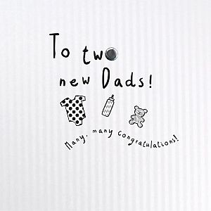 To,Two,New,Dads,Baby,Card,buy new dads new baby card online, buy new baby cards online, buy new baby card for two new dads online, buy adoption cards online for dads, buy new baby card for dads online